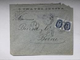 K6 Russia Russie 1899 R-Brief Von Odessa Nach Bern - 1857-1916 Empire