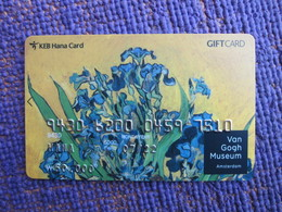 Korea Hana Bank Gift Card, Painting Of Van Gogh Museum - Corée Du Sud