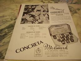 ANCIENNE PUBLICITE PARFUM CONCRETA DE MOLINARD 1952 - Parfums & Beauté