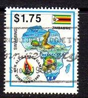 Zimbabwe 1995 All-Africa Games $1.75 Value, Used, SG 911 (BA) - Zimbabwe (1980-...)
