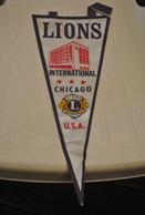 Rare Fanion Lion's Club Chicago USA - Organizations