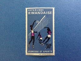 1966 RWANDA REPUBLIQUE RWANDAISE SPORT PALLAVOLO 30 C FRANCOBOLLO NUOVO STAMP NEW MNH** - 1962-69: Nuovi
