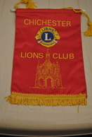 Rare Fanion Lion's Club Chichester - Organisations