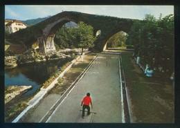Asturias. Cangas De Onís. *Puente Romano Y Bolera Asturiana* Circulada 1972. - Boliche
