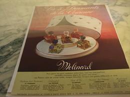 ANCIENNE PUBLICITE PARFUM 5 DIAMENTS DE LA COURONNE MOLINARD 1951 - Parfums & Beauté