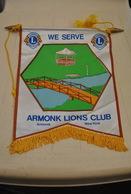 Rare Fanion Lion's Club Armonk New-York USA - Organizations