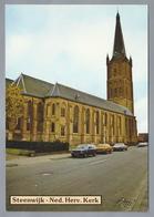 NL.- STEENWIJK. Ned. Herv. Kerk. Old Cars. - Kerken En Kathedralen