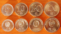 North Korea DPRK 4 Coins 2005 AUNC/UNC - Corée Du Nord