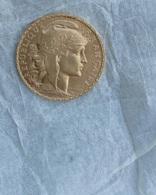 Véritable Pièce  20 Francs OR Marianne Coq 1910 - Frankreich