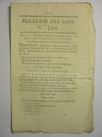 BULLETIN DES LOIS N°392 De 1811 - CREATION DU CORPS DES SAPEURS POMPIERS DE PARIS - CHEVAUX MULETS MOYENS DE TRANSPORT - Decrees & Laws