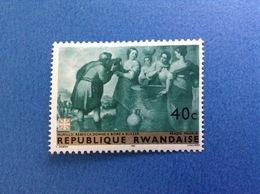 1967 RWANDA REPUBLIQUE RWANDAISE ARTE DIPINTO MURILLO 40 C FRANCOBOLLO NUOVO STAMP NEW MNH** - 1962-69: Nuovi