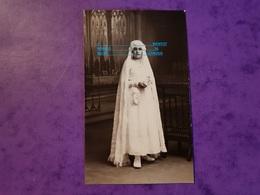 Cpp Portrait De Hélène FLEURY Communiante Missel Sac Fille De Marie Louise Pour Pierrette BROT A VIERZON FORGES 18 - Généalogie