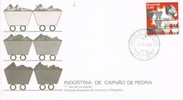 31117. Carta F.D.C. ROBEIRAO PRETO (Brasil) 1980. Industria CARBON Piedra. Mineral - FDC