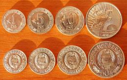 North Korea DPRK 4 Coins 1 Star 1959-1978 AUNC/UNC - Corée Du Nord