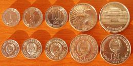 North Korea DPRK 5 Coins 1959-1978 AUNC/UNC - Korea, North