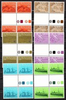 Set In Gutter Pairs WHITE & COLORED Zonn. # 91-6BP And 91-6BPA  MNH Ships (150) - Suriname
