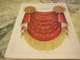 ANCIENNE PUBLICITE PARFUM VOEU DE NOEL CARON 1951 - Parfums & Beauté