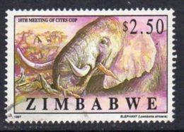 Zimbabwe 1997 CITES Convention, Harare $2.50 African Elephant Value, Used, SG 946 (BA) - Zimbabwe (1980-...)