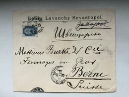 K6 Russia Russie 1899 Brief Von Sevastopol Nach Bern - 1857-1916 Imperium