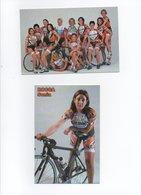 CYCLISME TOUR  DE  FRANCE   2 CARTES EQUIPE FEMININE  EDILSAVINO ET SONIA ROCCA - Ciclismo