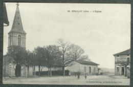 01 - Ain - Druillat Café Et église - France