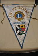 Rare Fanion Lion's Club Rambouillet - Organisations
