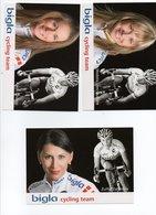 CYCLISME TOUR  DE  FRANCE 11 CARTES EQUIPE BIGLA 2009 - Ciclismo
