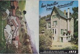 Calendrier 1973 La Colonie De Vacances  De Sainte Marguerite De Pornichet 44 Et Saint Martin En Vercors 26 - Calendriers