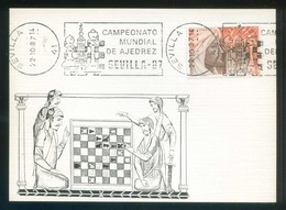 Sevilla. TP Matasellos Rodillo *Campeonato Mundial De Ajedrez Sevilla-87. 22-10-87* - Ajedrez