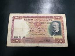 Portugal PAPEL NOTA 50$00 CH 6A    28 JUNHO 1949 - Portugal