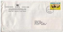 Postal History: UNO Cover With Rhino Stamp - Rhinoceros