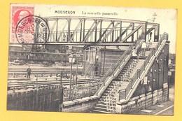 """Carte Postale En Noir & Blanc """" La Nouvelle Passerelle """" à MOUSCRON - Mouscron - Moeskroen"""