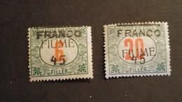 Italië/Italy - Nr. 29 En 30 FIUME (met Plakker) - Italie