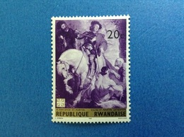 1967 RWANDA REPUBLIQUE RWANDAISE ARTE DIPINTO VAN DYCK SAN MARTINO 20 C FRANCOBOLLO NUOVO STAMP NEW MNH** - 1962-69: Nuovi