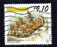 Zimbabwe 1999 Tourism $9.10 White Water Rafting Value, Used, SG 995 (BA) - Zimbabwe (1980-...)