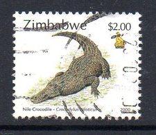 Zimbabwe 2000 Fauna Definitives $2 Crocodile Value, Used, SG 1011 (BA) - Zimbabwe (1980-...)