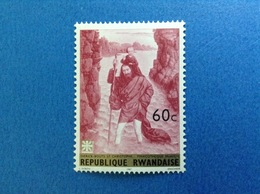 1967 RWANDA REPUBLIQUE RWANDAISE ARTE DIPINTO DIERICK BOUTS SAN CHRISTOPHE 60 C FRANCOBOLLO NUOVO STAMP NEW MNH** - 1962-69: Nuovi