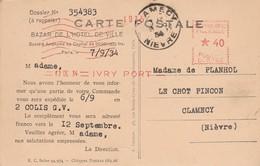 Magasins : BAZAR De L'HOTEL De VILLE : Carte Réponse ( Paris Notre-dame - L'abside ) - Shops