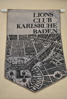 Rare Fanion Lion's Club Karlsruhe Baden - Organisations