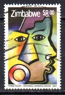 Zimbabwe 2001 UN Dialogue $8 Value, Used, SG 1064 (BA) - Zimbabwe (1980-...)