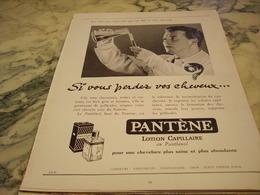 ANCIENNE PUBLICITE SI VOUS PERDEZ VOS CHEVEUX PANTENE 1951 - Parfums & Beauté