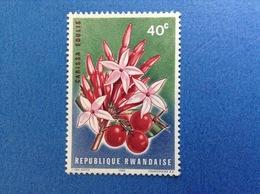 1966 RWANDA REPUBLIQUE RWANDAISE FIORE PIANTA FRUTTO CARISSA EDULIS 40 C FRANCOBOLLO NUOVO STAMP NEW MNH** - Rwanda