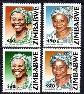 Zimbabwe 2002 10th Anniversary Of Death Of Sally Mugabe Set Of 4, MNH, SG 1087/90 (BA) - Zimbabwe (1980-...)