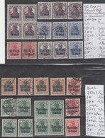 TIMBRES D ALLEMAGNE NEUF** / */(*) OBLITEREES1917 POLEN (IN ROUMANIEN) Nr VOIR SUR PAPIER AVEC TIMBRES COTE 146.80 € - Besetzungen 1914-18