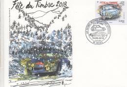FRANCE -  Fête Du Timbre - Voiture Ancienne : Alpine Renault A110 - - FDC