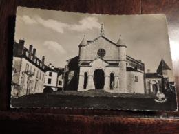CPSM   OLORON SAINTE MARIE EGLISE STE GROIX  CP ECRITE 1954 ETAT MOYEN - Oloron Sainte Marie