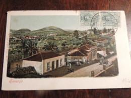CPA TENERIFE ESPAGNE  DE 1912  ANIMEE  FAUBOURG  COLORISEE  ETAT MOYEN - Tenerife