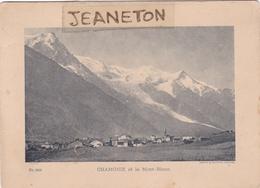 Carte Sur Carton  18 Cm. X 13 Cm.  -  CHAMONIX  Et Le Mont-Blanc - Chamonix-Mont-Blanc