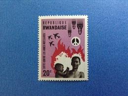 RWANDA REPUBLIQUE RWANDAISE LOTTA CONTRO LE ARMI NUCLEARI 20 C FRANCOBOLLO NUOVO STAMP NEW MNH** - 1962-69: Nuovi