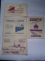 4 PUBLICITE Ancienne : PAQUEBOT PAQUET  - MAROC / P&O - EXTREME ORIENT 1932 - 1937 - Publicités